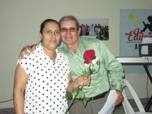 Pastor Salomon and his wife Leonor